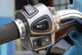 Motorcycle handlebar — Stock Photo