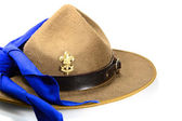 Brown brim hat (hat of scout) — Stock Photo