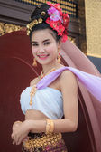 Thai Woman In Traditional Costume Of Thailand — Stock Photo