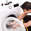 Washing machine repairman — Stock Photo #50697295