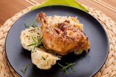 Chicken with cabbage and dumplings — Stock Photo