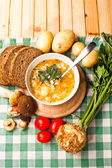 Soup with vegetables — Stock Photo