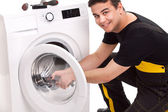 Washing machine repairman — 图库照片