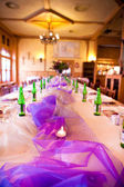 Wedding table served — Stock Photo