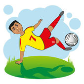 Football Player. — Stock Vector