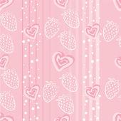 Erdbeer-liebe — Stockvektor