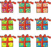 Set of holiday presents — Stock Vector