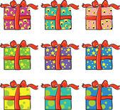 Satz von urlaub geschenke — Stockvektor