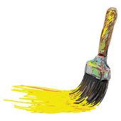 Paint brush. Hand writing cartoon — Stock Vector
