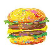 Tasty burger — Stock Vector