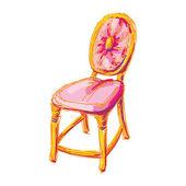 židle umění. — Stock vektor