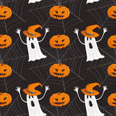 Seamless Halloween pattern background — Stock Vector