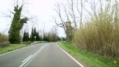 Mediterranean Rustic Road Cameracar 01 — Stock Video