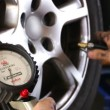 Car Repair Wheel Pressure — Stock Video #49213257