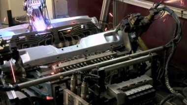 Laser Welding Robot — Stock Video