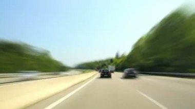 Road rage den dálnice fotoaparát auto super vysokorychlostní 04 — Vídeo de stock