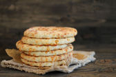 Cheese flat bread — Stock Photo