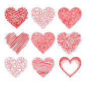 Dibujo de corazones — Vector de stock