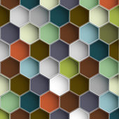 Background with colorful hexagons — Stock Vector