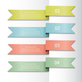 Set of colorful ribbons — Stock Vector