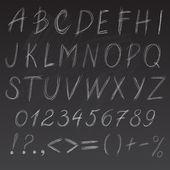 Chalk font — Stock Vector
