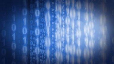 Fly through the binary code — Stockvideo