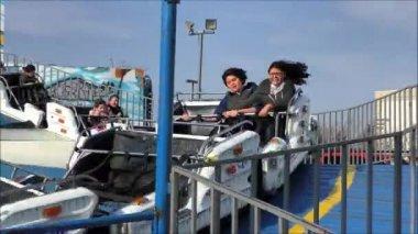Carnival Roller Coaster — Stock Video