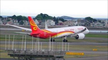 Boeing 787 dreamliner slow motion. — Video Stock