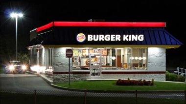 Burger King restaurant loop — Stock Video