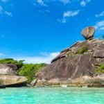Similan Islands, Andaman Sea, Thailand. Huge beautifull reefs and cliffs — Stock Photo #49167483