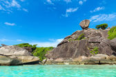 Similan Islands, Andaman Sea, Thailand. Huge beautifull reefs and cliffs — Stock Photo