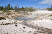 Geothermic pools n Yellowstone National Park USA — Stock Photo