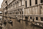 Side Canal view in Venice known as La Serenissima in Northern Italy is a magical place — Stock Photo