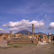 Ruins of the forum in the once buried city of Pompeii Italy — Stock Photo #49711519