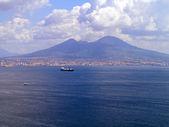 Monte Vesubio, un volcán activo cerca de Nápoles Italia meridional — Foto de Stock