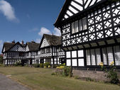 Tudor Style Houses in Port Sunlight on the Wirral Cheshire England — Stock Photo