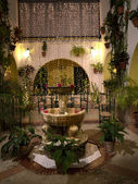 Internal Patio in Nerja on the Costa del Sol in Andalucia southern Spain — Stock Photo