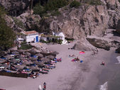 The Beaches of Nerja on the Costa Del Sol Andalucia Spain — Stock Photo