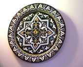 Traditional Style Enamelled Plate inNerja on the Costa del Sol Spain — Stock Photo