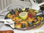 Pan of Paella in Nerja on the Costa del Sol Spain — Stock Photo