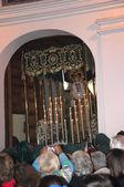 Las procesiones de semana santa en nerja en la costa del sol andalucia españa sur — Foto de Stock