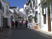 The Narrow Streets in Nerja on the Costa del Sol in Andalucia southern Spain — Stock Photo