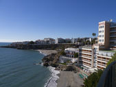 Beach at Nerja on the Costa del Sol Spain — Stock Photo
