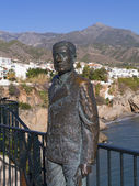 Statue of King Umberto on the Balcon de Europa at Nerja on the Costa del Sol Spain — Stock Photo