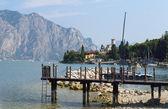 在意大利北部加尔达湖上索莲托 — 图库照片