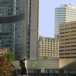 Statue of Sir Winston Churchill in Toronto in Canada — Stock Photo #50089567