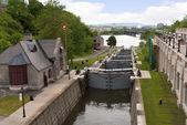 The canal Locks in Ottawa Eastern Canada — Fotografia Stock