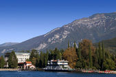 Lake Garda in the Italian lakes Italy — Stock Photo