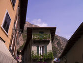 Torbole on Lake Garda in the Italian lakes Italy — Stock Photo