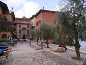 Malcesine on Lake Garda in the Italian lakes Italy — Stock Photo